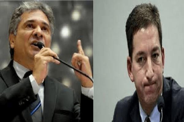 Deputado do PSL detona Glenn Greenwald durante manifestação em apoio ao Sérgio Moro