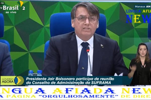 """""""Agora que sou dono desse carimbo posso falar"""" diz Bolsonaro ao revelar acordo secreto de Lula"""