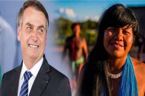 Presidente Bolsonaro e Ysani Kalapalo na ONU em defesa do Brasil, da Amazônia e da nossa Soberania