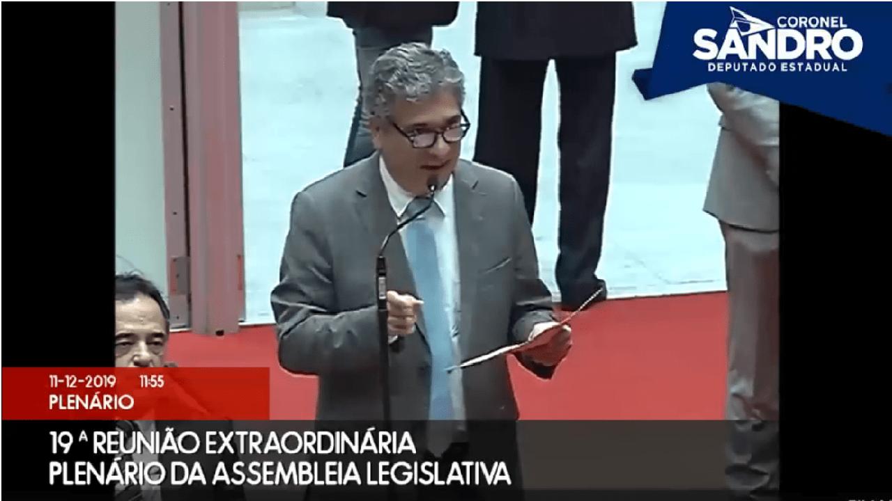 Deputado Coronel Sandro detona hipocrisia da esquerda em Minas Gerais