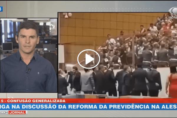 Votação da Reforma da Previdência na Alesp termina em briga