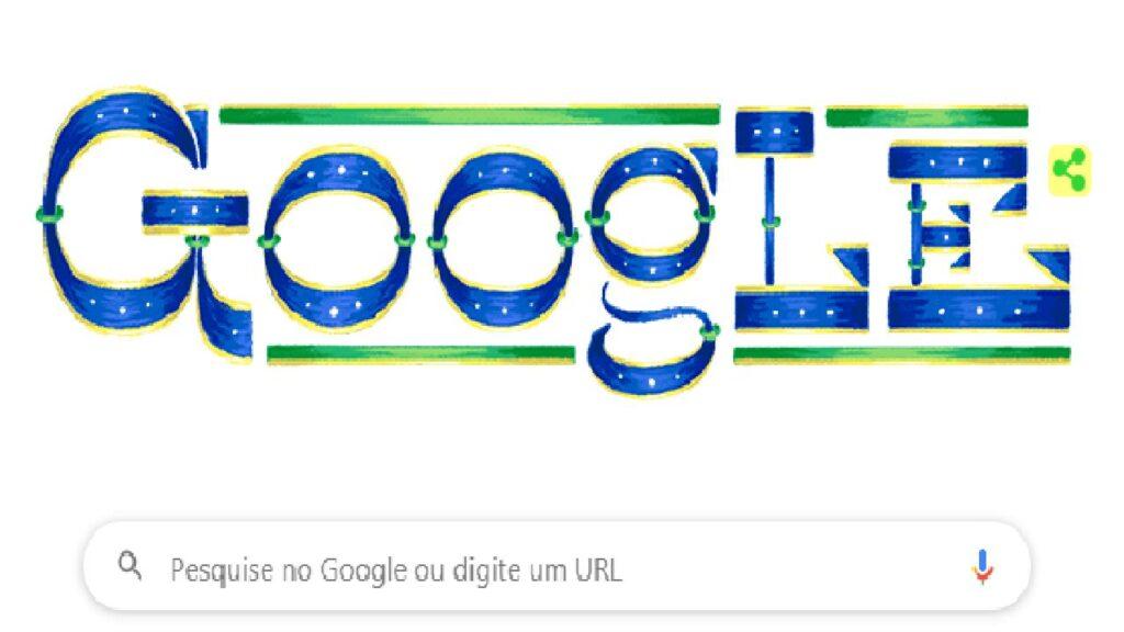 Google muda Doodle em homenagem ao Dia da Independência do Brasil
