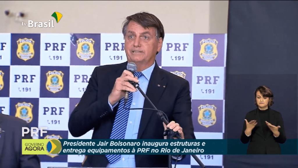 Presidente Bolsonaro inaugura novas estruturas e entrega equipamentos à Polícia Rodoviária Federal no Rio