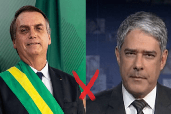 "Presidente manda recado para William Bonner: ""Sem vergonha"""