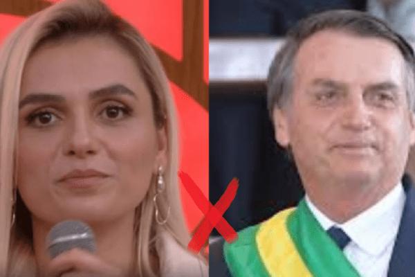 """Contrária ao presidente, Mônica Iozzi relembra caso e afirma: """"Bolsonaro foi mais inteligente do que eu"""""""