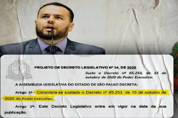 Bolsonaristas protocolam Projeto para derrubar aumentos de impostos realizados por Doria