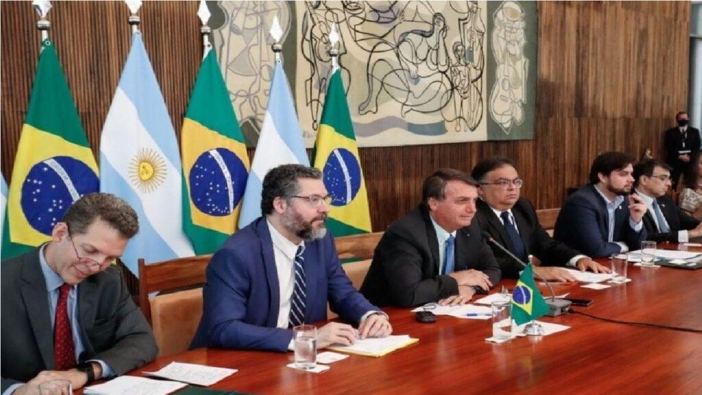 Bolsonaro participa de videoconferência com Presidente da Argentina Alberto Fernandez