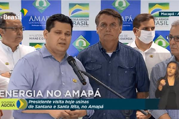 Davi Alcolumbre Agradece ao Presidente Bolsonaro pela sensibilidade e dedicação à solucionar a crise energética do Amapá