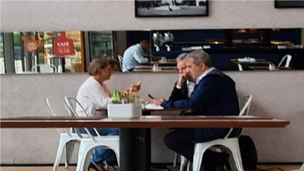 Joice Hasselmann toma café com Bruno Covas e acerta apoio