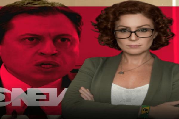 """""""O Sr não tem tido postura de jornalista, mas de passador de recados contra os interesses republicanos"""" diz Carla Zambelli à jornalista da Globo News"""