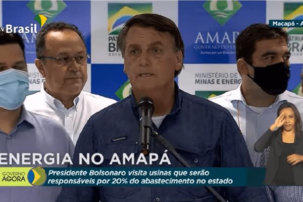 Presidente Bolsonaro edita MP para pagar integralmente a conta de energia de toda a população do Amapá