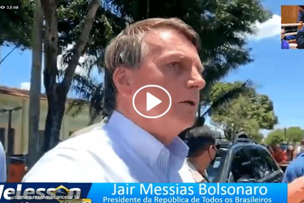 "Presidente Bolsonaro se Irrita em Coletiva e Desabafa ""O Brasil Tá Dando Certo!"""