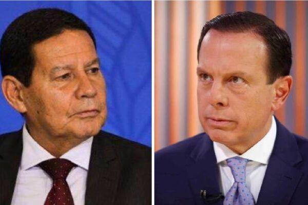 """General Mourão chama de """"politicagem"""" ataques de Doria a ministro Pazuello em embate sobre início da vacinação contra Covid-19"""