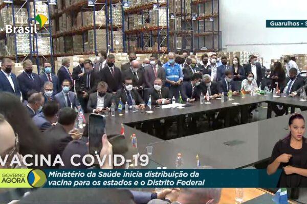 Ministério da Saúde inicia distribuição da vacina contra Covid-19