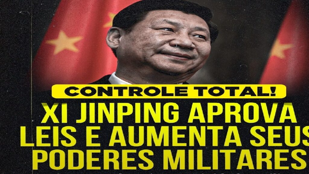 Presidente da China, Xi Jinping aprova leis e aumenta seus poderes militares