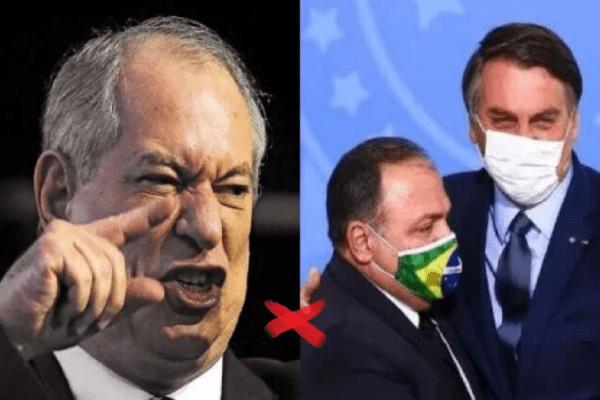 Além de cobrar impeachment, Ciro Gomes defende que Bolsonaro e Pazuello sejam presos