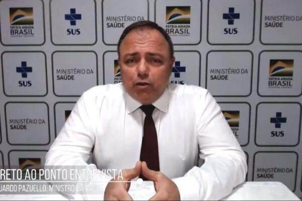 """""""Nós vamos vacinar o Brasil todo este ano"""", garante General Pazuello"""