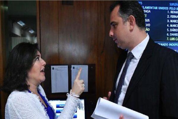 Pacheco na presidência é 'risco institucional', diz Simone Tebet