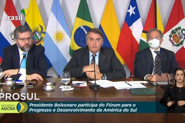 Bolsonaro faz discurso no Prosul pró-reformas e agenda liberal