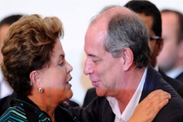 """Chamada de """"aborto"""" por Ciro Gomes, Dilma diz que pedetista quer ser """"variante de Bolsonaro"""""""
