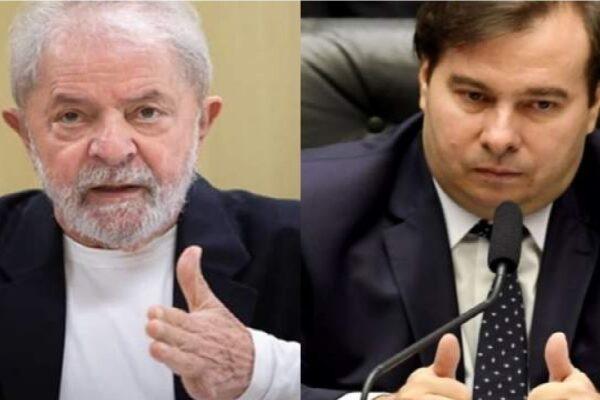 """Rodrigo Maia declara declara apoio a Lula: """"Não precisa ser petista fanático"""""""