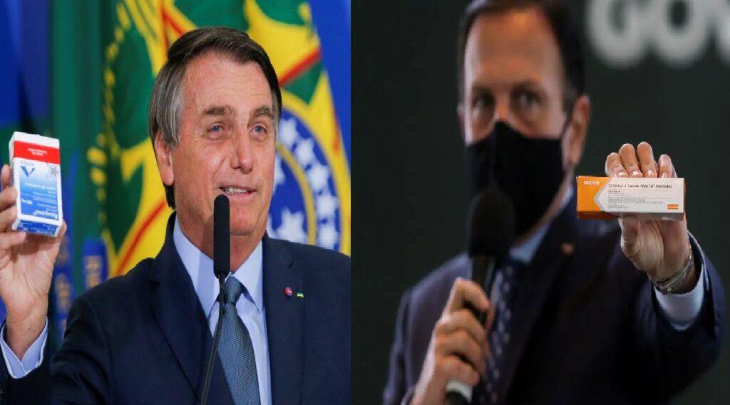 Bolsonaro volta a criticar João Dória e eficácia da Coronavac contra doença