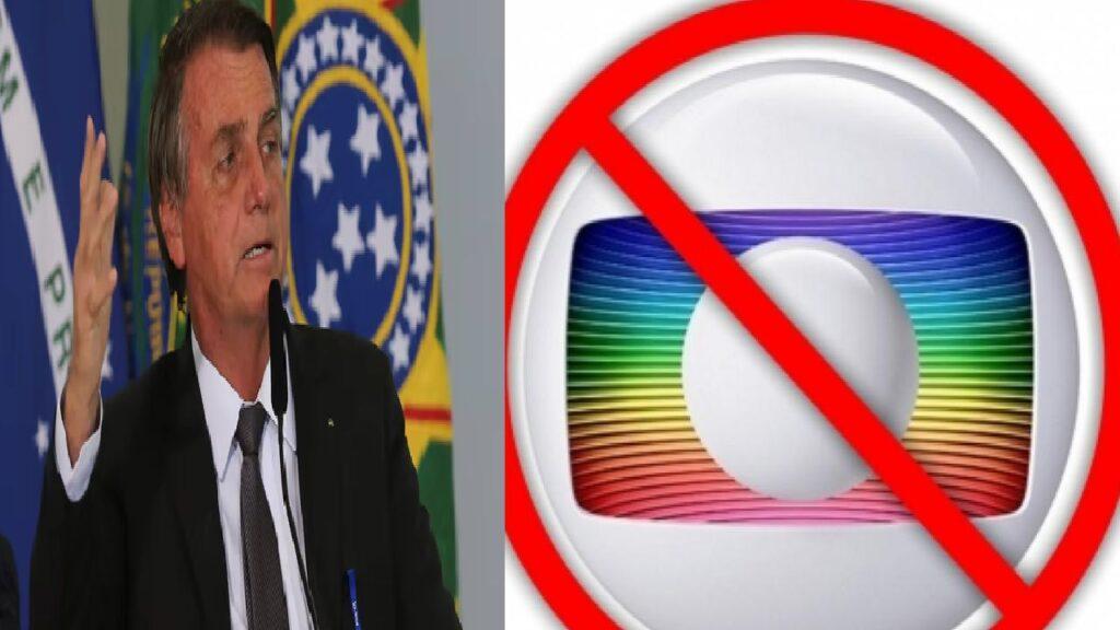 """Bolsonaro: """"Não tem mais grana fácil para a TV Globo"""""""