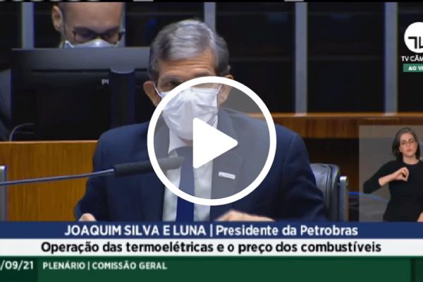 Joaquim Silva e Luna diz que Petrobras trabalha para aumentar oferta de gás a termelétricas